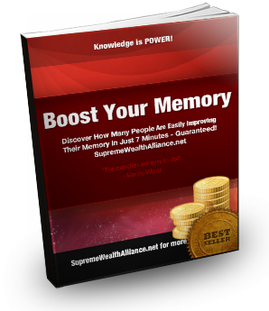 Boost Your Memory ebook at Supreme Wealth Alliance